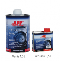 Kit vernis 2K Acryl Klarlack Compact 2:1  1,5 litres