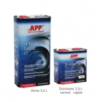 Kit vernis 2K Acryl Klarlack Compact 2:1  7,5 litres