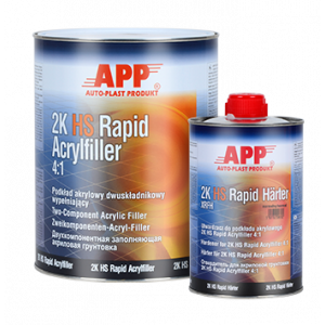 Kit Appret APP 2K Hs rapid   5litres gris