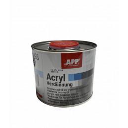 diluant acryl verdunnung APP 0,5 litre