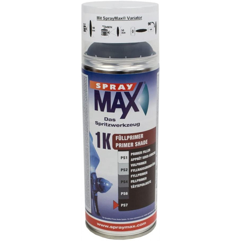 Bombe d'apprêt Spray Max 1K   Noir